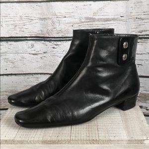 Coach VINTAGE Black Patent/Leather Booties sz 10